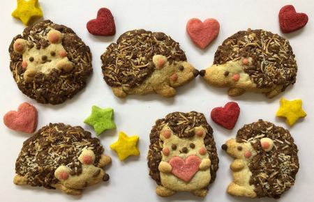 .皆さまこんにちは😊.今年の子年にちなんでぶきっちょさんの体験ルームのスタッフがクッキーでハリネズミを作ってくれました🦔👏✨.ココアクッキーの部分にココナッツをまぶしてハリを表現してます👍💓.皆さんもぜひ、干支クッキー挑戦してみてくださいね🐭💖..#thesweetcastle#お菓子の城#愛知#犬山#お出かけ#愛知テーマパーク#体験#遊び#デート#スイーツバイキング#クッキー作り#せんべい焼き#ドーナツデコ#ポンデケージョ #ドレスレンタル#お土産#映えスポット#フォトジェニック#愛知フォトスポット#冬のお出かけ#新年#2020#干支クッキー